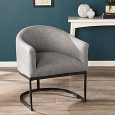Brenton Upholstered Barrel Chair - Light Gray