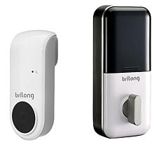 Brilong Smart Door Lock with Keyless & Key Entry + Bridge