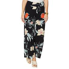 Brittany Humble Floral-Print Jersey Knit Palazzo Pant