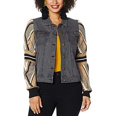 Brittany Humble Sweater Sleeve Denim Jacket