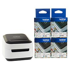 Brother VC-500W Wireless Compact Color Label and Photo Printer Bundle