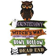 Bucilla Felt Wall Hanging Applique Kit - Halloween Street Sign