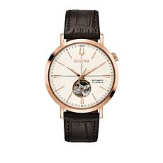 Bulova Classic Collection Brown Leather Strap Watch