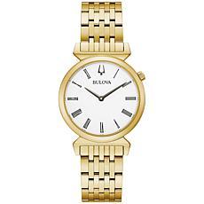 Bulova Goldtone Women's Roman Numeral Bracelet Watch