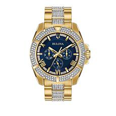 Bulova Men's 2-Tone Crystal Watch