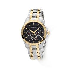 Bulova Men's Black Dial Chronograph Bracelet Watch