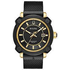"Bulova Men's ""Precisionist"" GRAMMY® Diamond Black Mesh Watch"