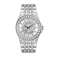 Bulova Men's Stainless Steel Crystal Baguette Watch