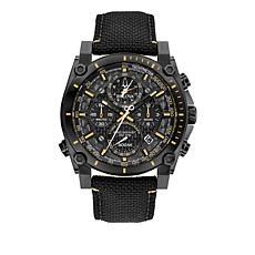 "Bulova ""Precisionist"" Men's Black Nylon Strap Watch"