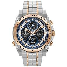 "Bulova ""Precisionist"" Two-Tone Men's Chronograph Bracelet Watch"
