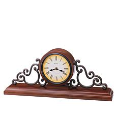 "Bulova ""Strathburn"" Wood Mantle Clock"
