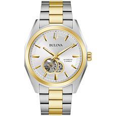 Bulova Two-Tone Stainless Steel Men's Link Bracelet Automatic Watch