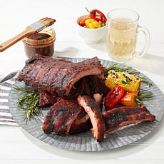 Burnt Finger BBQ 3-pack Smoked Baby Back Ribs with Rub and Sauce