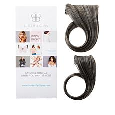 """Butterfly Clip-In 10""""-12"""" Side Part Volumizing Set"""