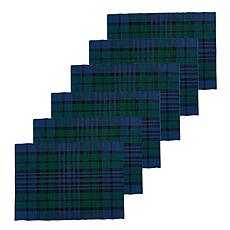 C&F Home Black Watch Plaid Placemat Set of 6