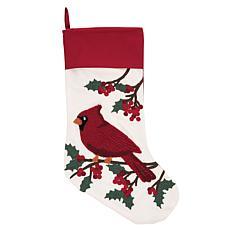 C&F Home Cardinal Berries Stocking