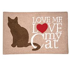 C&F Home Cat Love Hooked Rug