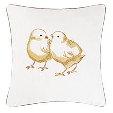 C&F Home Chicks Embroidered Pillow