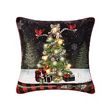C&F Home Christmas Tree Memories LED Pillow