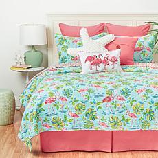 C&F Home Flamingo Garden Quilt Set - Full/Queen