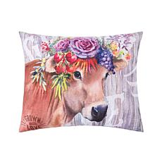 C&F Home Garden Story Cow Pillow