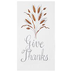 C&F Home Give Thanks Towel S-3