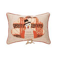 C&F Home Harvest Time Turkey Pillow