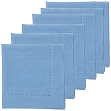 C&F Home Hemstitch Cornflower Napkin Set of 6