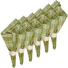 C&F Home Holly Plaid Cotton Reversible Napkin Set of 6