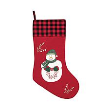 C&F Home Holly Snowman Wreath Stocking