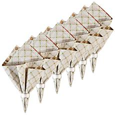 C&F Home Jocelyn Cotton Reversible Napkin Set of 6