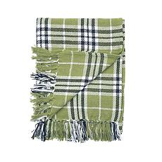 C&F Home Max Plaid Tarragon Throw