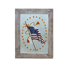 C&F Home Old Glory Painted Window Wall Art