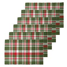 C&F Home Owen Plaid Cotton Placemat Set of 6