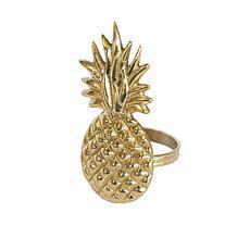 C&F Home Pineapple Napkin Ring Set of 6