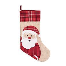 C&F Home Plaid Christmas Santa Stocking