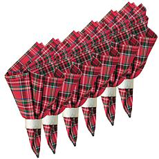 C&F Home Red Plaid Cotton Napkin Set of 6