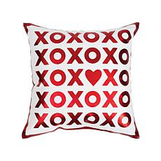 C&F Home Red Xoxo Printed Pillow