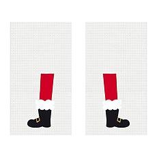 C&F Home Santa Boots Kitchen Towel Set of 2