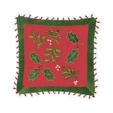 C&F Home Sheer Holly Pillow