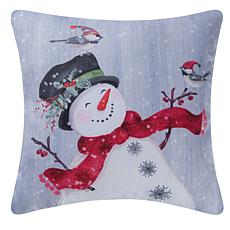 C&F Home Snowman Pillow