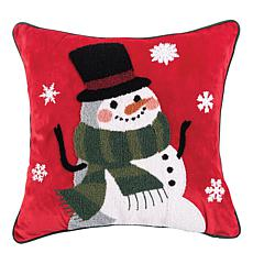 C&F Home Snowman Snowstorm Pillow