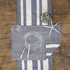 C&F Home Sol Stripe Indigo Table Runner