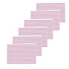 C&F Home Ticking Stripe Fuchsia Placemat Set of 6