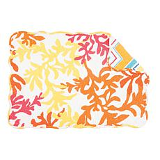C&F Home Tropical Coral Placemat Set of 6