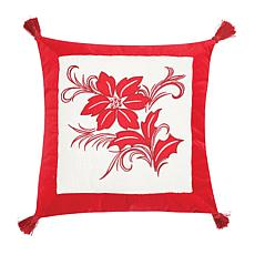 C&F Home Winter Frost Poinsettia Pillow