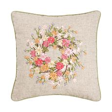 C&F Home Zinnia Wreath Pillow