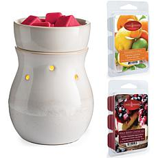 Candle Warmers Frosted Farmhouse Wax Warmer w/ Two 2.5oz Wax Melts