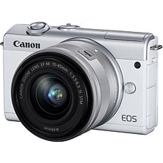Canon EOS M200 White Mirrorless Digital Camera w/ 15-45mm lens