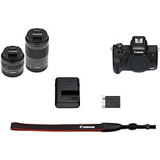 Canon EOS M50 Mark II Mirrorless Digital Camera w/15-45mm Lens - Black